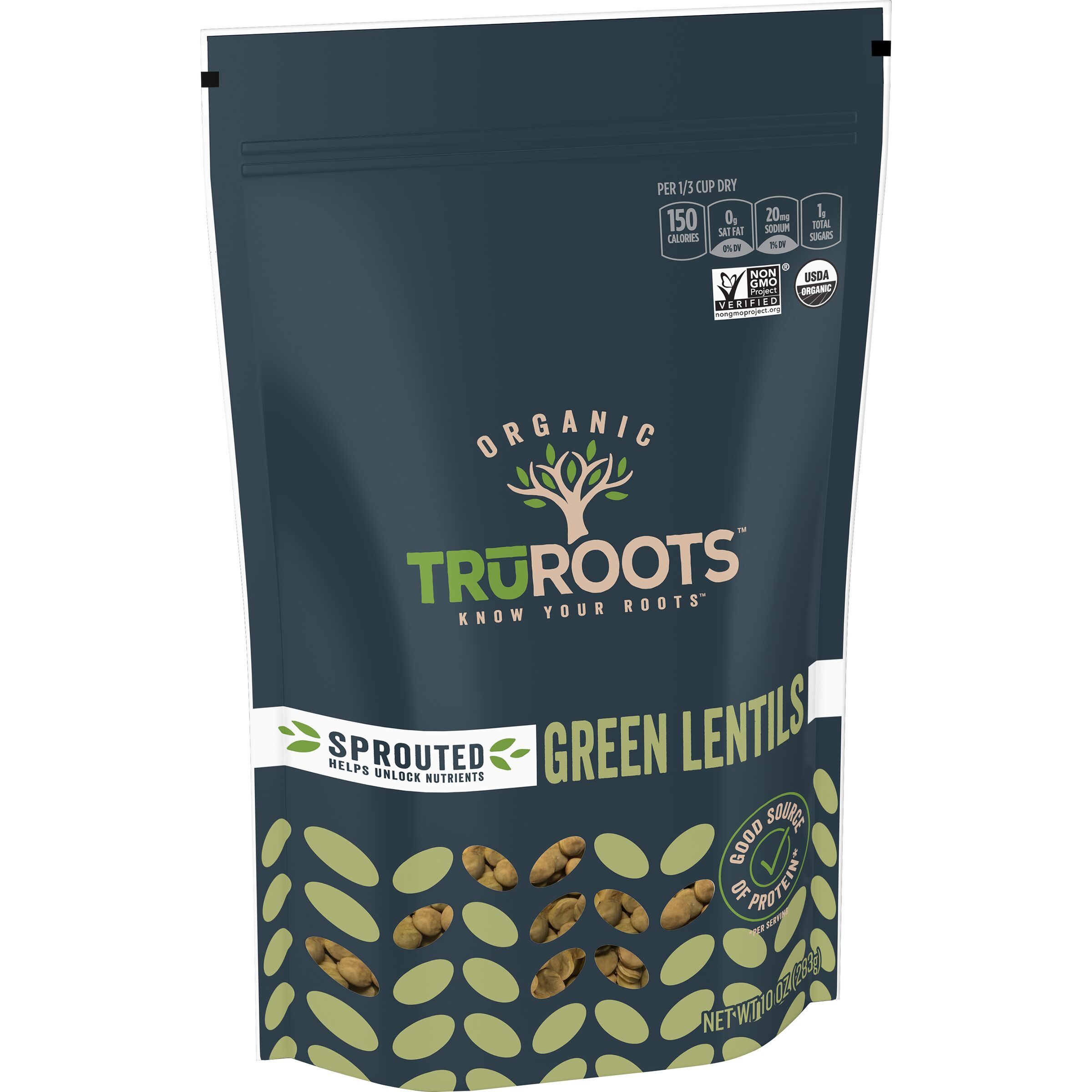 truRoots ORIGINALS Organic Sprouted Green Lentils